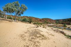 Escursione della traccia del ciclo della finestra delle nature, parco nazionale di kalbarri, Australia occidentale 40 immagine stock libera da diritti