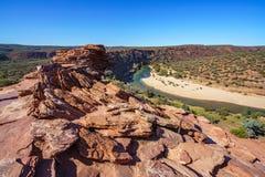 Escursione della traccia del ciclo della finestra delle nature, parco nazionale di kalbarri, Australia occidentale 43 fotografia stock