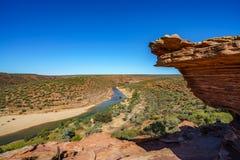 Escursione della traccia del ciclo della finestra delle nature, parco nazionale di kalbarri, Australia occidentale 42 fotografie stock