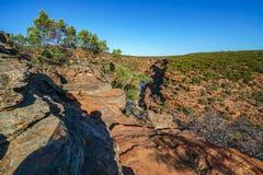 Escursione della traccia del ciclo della finestra delle nature, parco nazionale di kalbarri, Australia occidentale 46 fotografie stock