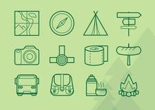 Escursione delle icone Immagine Stock