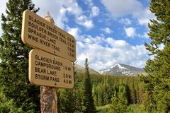 Escursione delle Montagne Rocciose Fotografie Stock