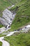 Escursione dello studente in valle di Koednitz, Austria Immagini Stock Libere da Diritti