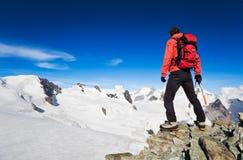 Escursione di elevata altitudine Fotografia Stock