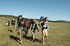 Escursione di estate Fotografie Stock
