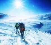 Escursione di inverno fotografia stock
