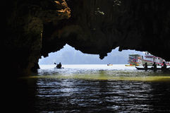 Escursione di kayak Fotografia Stock