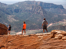 Escursione rocciosa del deserto Fotografia Stock Libera da Diritti