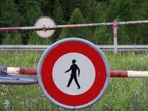 Escursione, violante segno Fotografie Stock