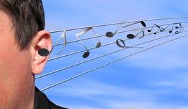 Escuta a música Imagens de Stock