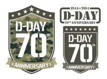 Escutcheon D-DAY Anniversary Royalty Free Stock Photography