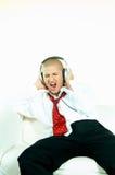 Escute a música Imagens de Stock
