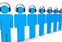 Escute a música ilustração stock