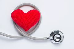Escute seu coração: conceito dos cuidados médicos fotografia de stock royalty free