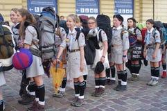 Escuteiras polonesas Imagem de Stock Royalty Free