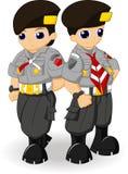 Escuteiro Couple da polícia Imagens de Stock