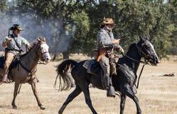 Escuteiros confederados na ação Fotos de Stock Royalty Free