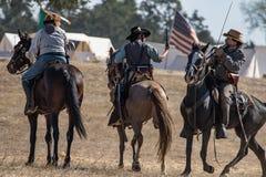 Escuteiros confederados na ação Imagens de Stock
