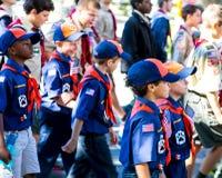 Escuteiros de Cub Imagens de Stock