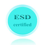 ESD certified icon or symbol image concept design with business Stock Photos