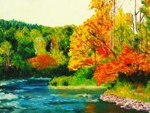 Esdoorn in de herfst stock illustratie
