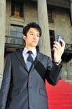 Esecutivo asiatico di buon senso 3 di tecnologia Fotografia Stock Libera da Diritti