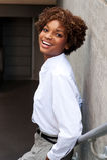 Esecutivo grazioso dell'afroamericano Fotografie Stock