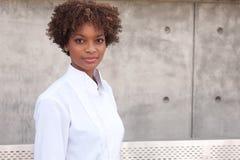 Esecutivo grazioso dell'afroamericano Immagini Stock Libere da Diritti