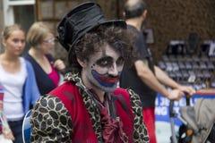 Esecutore al festival di Edinburgh fotografie stock