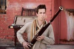 Esecutore del Bassoon Fotografia Stock