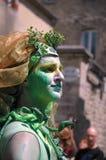 Esecutore del festival medievale di Bayeux, Francia Immagine Stock