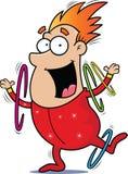 Esecutore di circo del fumetto Ring Twirler Fotografie Stock