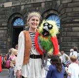 Esecutore durante il festival della frangia di Edinburgh fotografia stock libera da diritti
