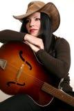 Esecutore e chitarra del paese Fotografia Stock
