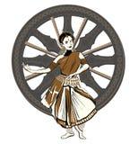 Esecutore indiano di ballo Immagine Stock Libera da Diritti