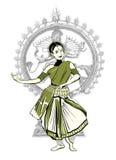 Esecutore indiano di ballo Immagini Stock