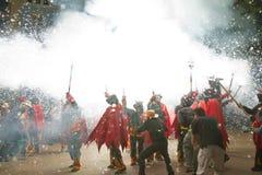 Esecuzione del fuoco Fotografia Stock