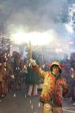 Esecuzione del fuoco di Gracia Fotografia Stock