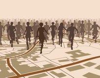 Esecuzione della città Immagini Stock Libere da Diritti