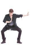Esecuzione maschio del ballerino immagine stock