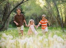 Esegua i bambini Fotografie Stock