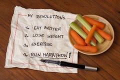 Esegua le risoluzioni di maratona Immagine Stock Libera da Diritti
