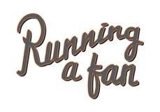 Eseguire un fan Distintivo maratona corrente lifestyle illustrazione di stock