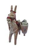 Esel vom Lehm auf weißem Hintergrund Stockfotos