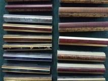 Esempi dei telai di legno fotografie stock