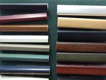 Esempi dei telai di legno immagine stock libera da diritti
