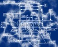 Esempio del modello del documento di industria illustrazione vettoriale