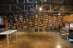 Esempio della decorazione delle biblioteche Fotografie Stock