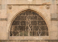 Esempio di architettura indiana in Ahmadabad, India fotografia stock