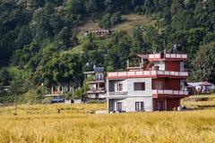 Esempio di architettura nepalese Fotografia Stock